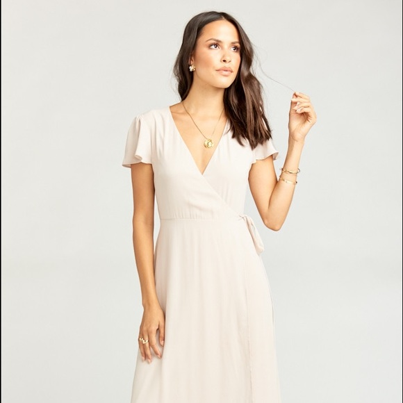Show Me Your MuMu Dresses & Skirts - Show Me the Ring Crisp Mumu Wrap Bridesmaid Dress